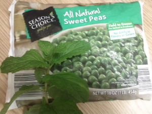 minty green peas