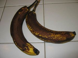 Over ripe bananas are sweeter - they are here to provide a natural sweetener to the smoothie.